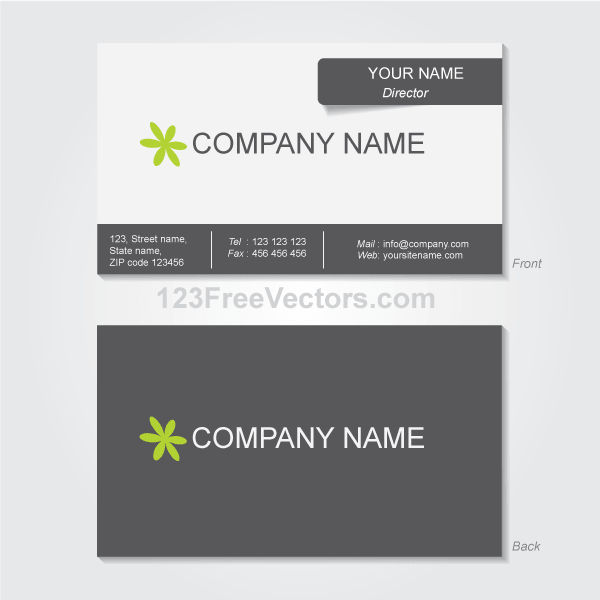 Business Card Template Vectors PSDcom - Free downloadable business card templates