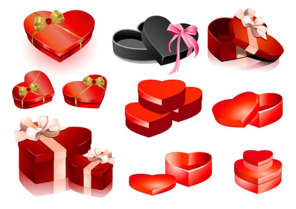 Valentine's Day heart-shaped gift box