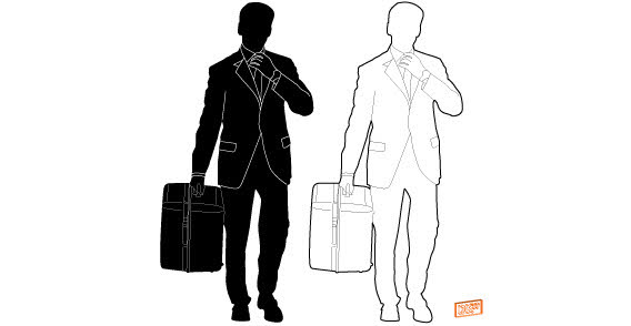 free businessman silhouette free psd files vectors graphics