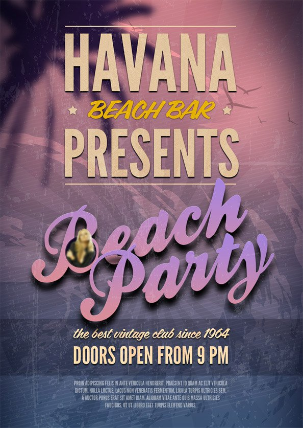 Free Beach Party PSD Flyer Template PSD files, vectors & graphics ...