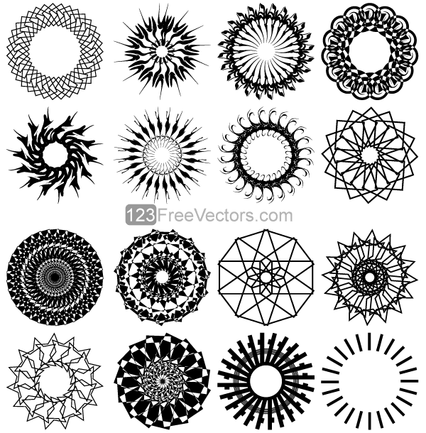 Circle Design Art : Free geometric circle design vector art psd files vectors