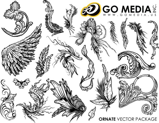 Go Media Produced Vector Continental And Lace Wings