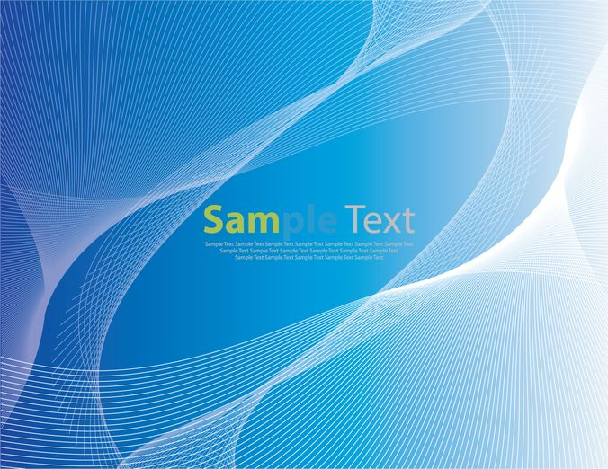 Abstract Blue Background with Wave
