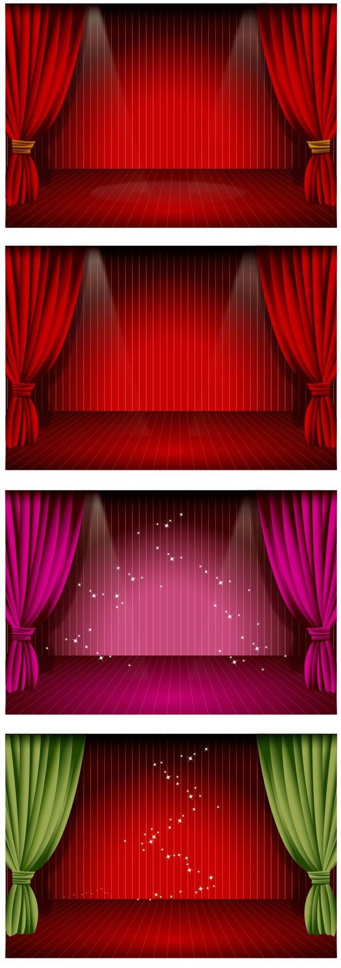 Beautiful Stage Curtain