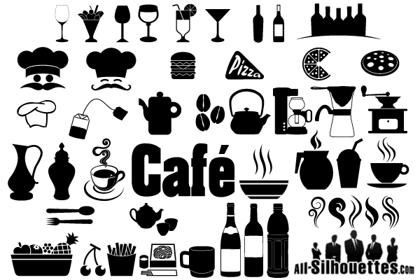Cafe, Restaurant Icons & Symbols Free