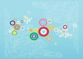 Colorful Circles Background Art