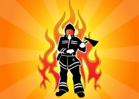 Firefighter Flame Graphic