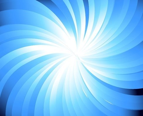 Blue Sunburst Abstract Vector Background Graphic
