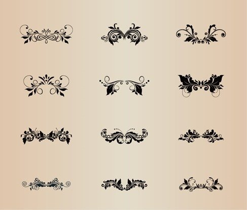 Floral Decoration Vector Element Collection