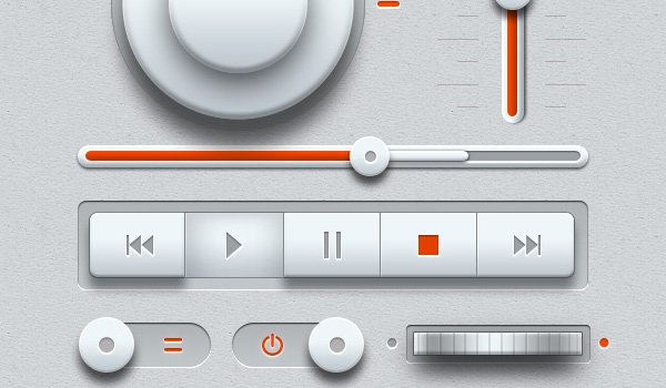 Light Music UI Design Kit (PSD)