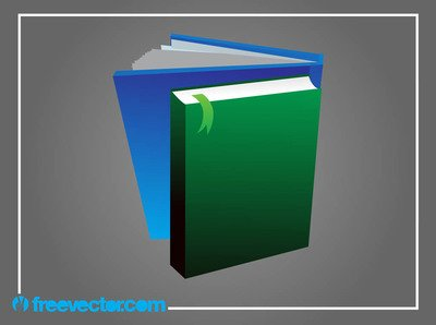 3D Books with Blank Cover