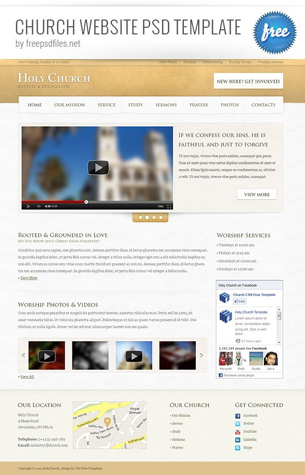 1 - Free Church Website Templates