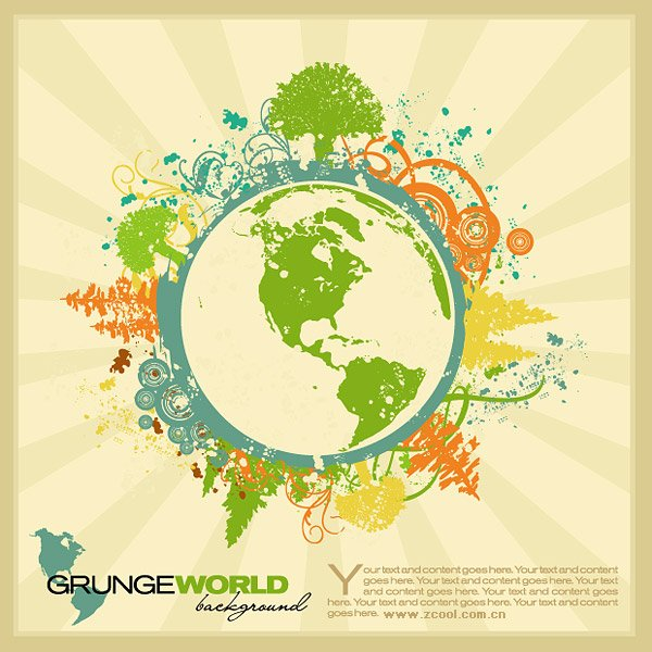Stock Vector Illustration trend of the Earth Theme, vector files ...