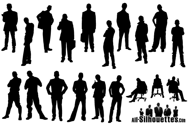 free man silhouette free vector pack psd files vectors graphics rh 365psd com vector silhouette hiker vector silhouette images
