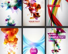 Abstract Colorful Set of Business Cards