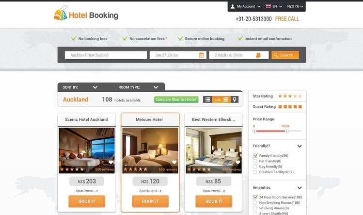 Hotel Booking Free PSD Template