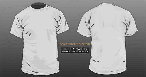 Are on the back of T-shirt (short sleeve T-shirt) vector mat