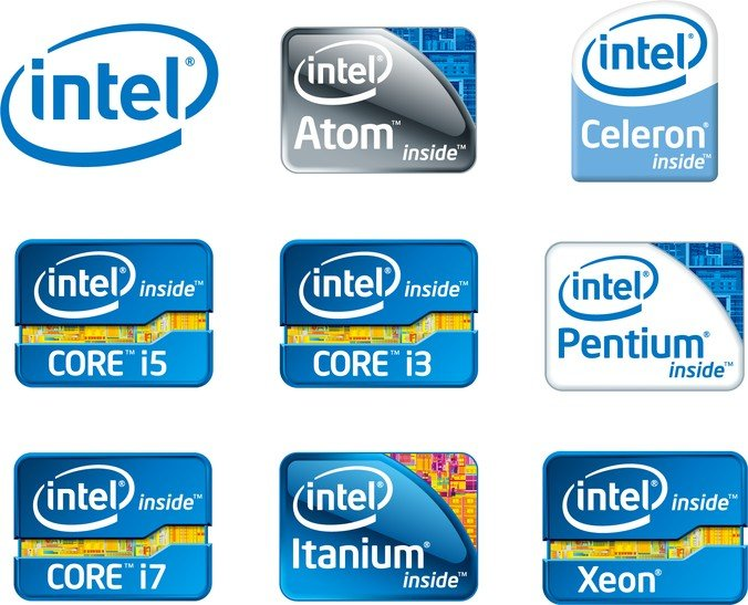 intel chip logos vector image 365psdcom