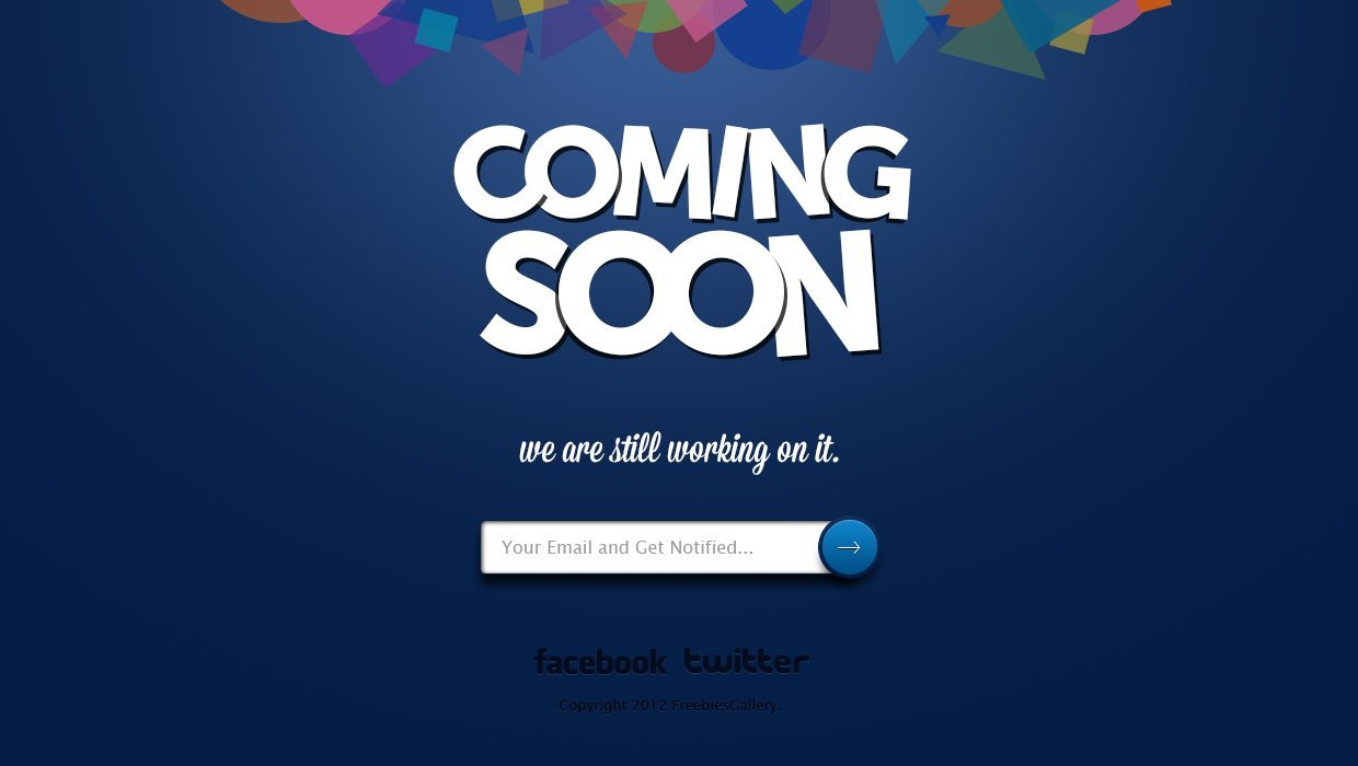 Free Coming Soon Page Free Psd Template Psd Files Vectors