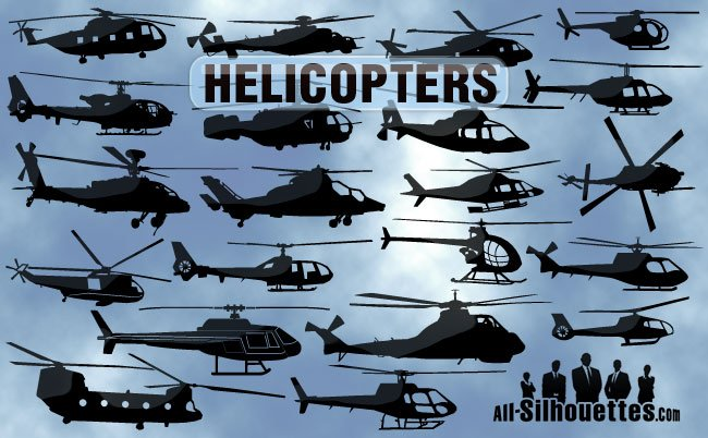22 Free Vector Helicopters