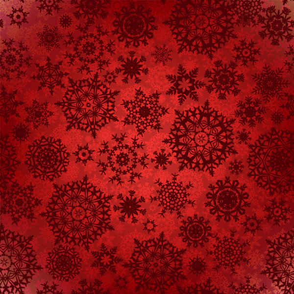 Floral flowers pattern red background
