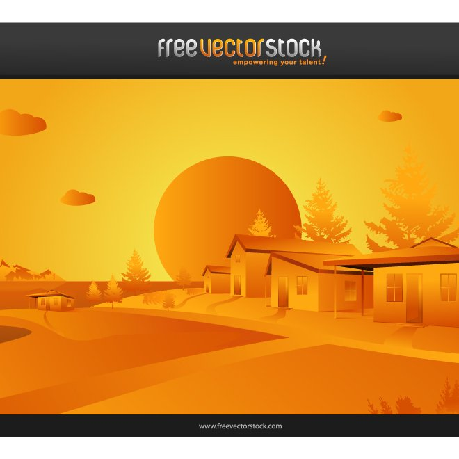 ORANGE VECTOR LANDSCAPE.ai