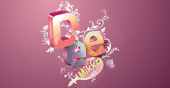 Floral Letters Background