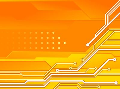 Circuit Board Orange Tech Background