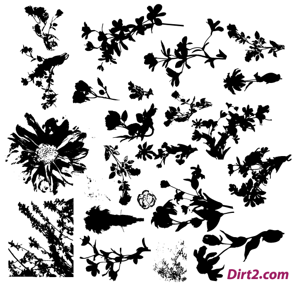 free floral silhouette vector pack free psd files vectors rh 365psd com flower silhouette vector free download floral silhouette vector