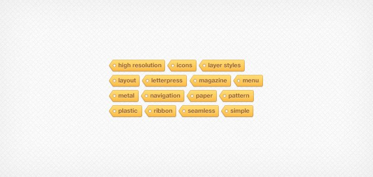 Tagtastic Tag Cloud (PSD)