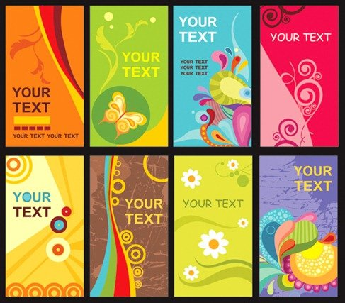 Colorful Floral Card Template
