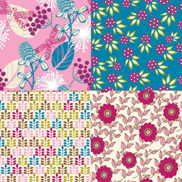 Cartoon Flower patterns