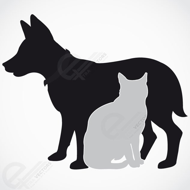 Dog Silhouette Vector Free Download Dog And Cat Silhouette Free