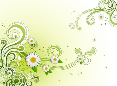 free green floral flower background psd psd files vectors