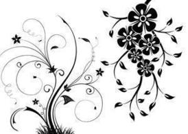 Free Floral Swirls Vectors