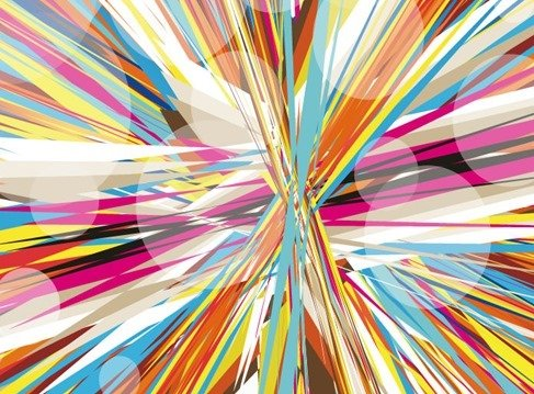 Abstract Colorful Mess Background