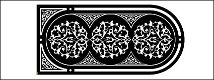 Black and white European-style gate pattern