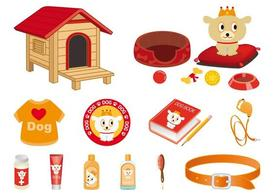 Cartoon Dog And Accessories