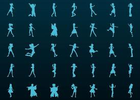 Girls Silhouette Vectors