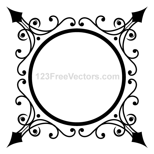 free circle ornate frame psd files vectors graphics 365psd com rh 365psd com ornate frame vector art ornate frame vector rectangle