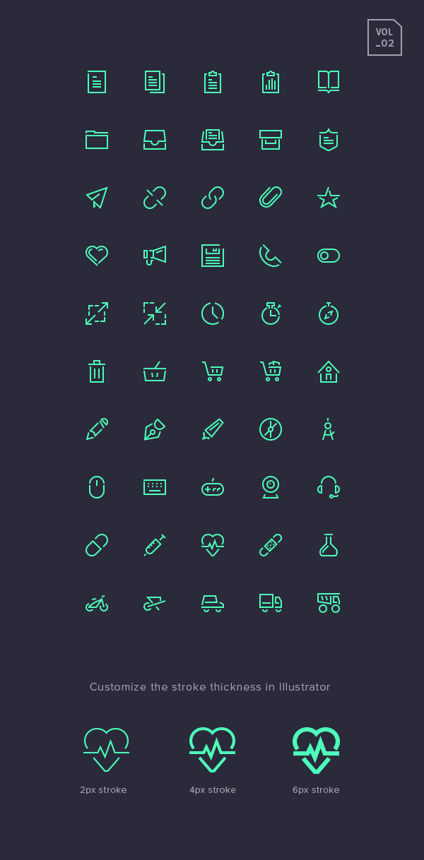 Stroke Gap Icons Set Vol.2