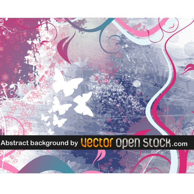 ABSTRACT BACKGROUND WITH BUTTERFLIES.ai