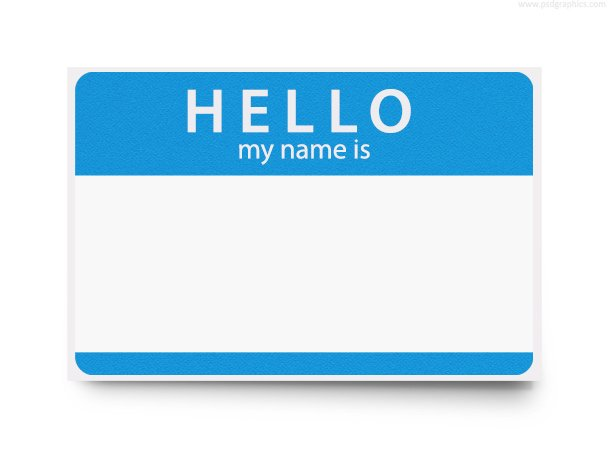 Hello my name is, PSD template, vector graphic - 365PSD.com