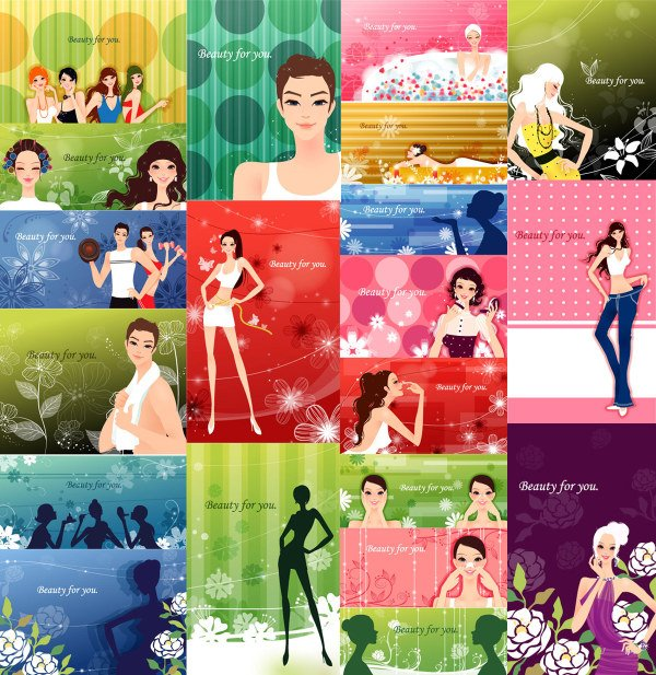 Fashion Women and patterns of plant material -2