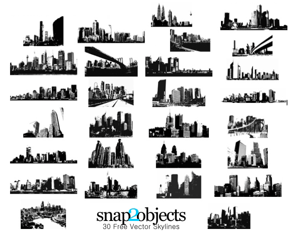 free city skylines free vector pack psd files vectors graphics