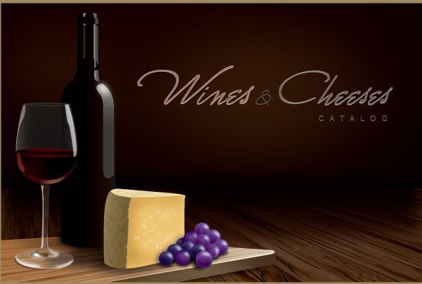 Vector Wines and Cheeses Catalog