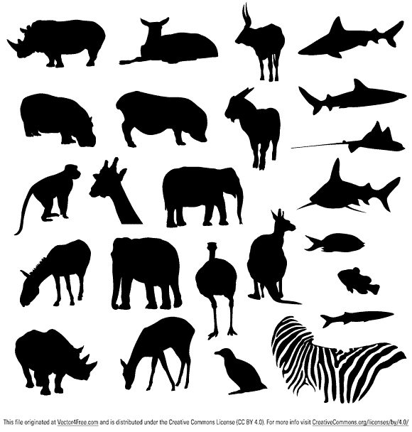 Free Vector Pack - Safari and Zoo Animals
