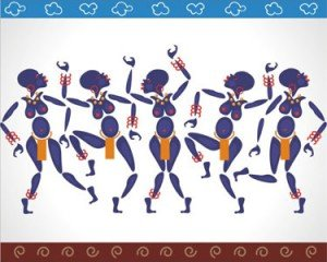 Stock Vector Illustration: African dance