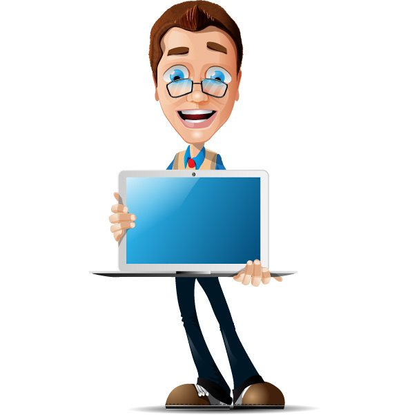 Free Free Businessman Vector Character with Glasses PSD files