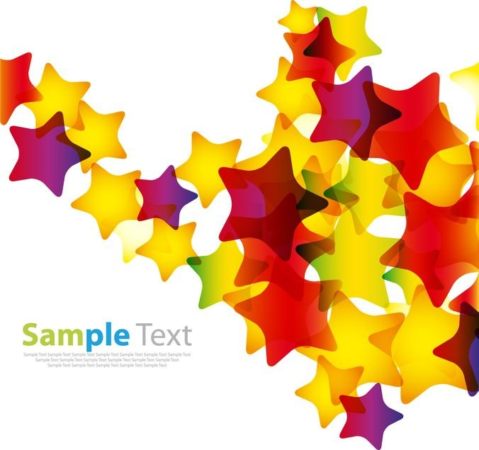 Abstract Colorful Stars